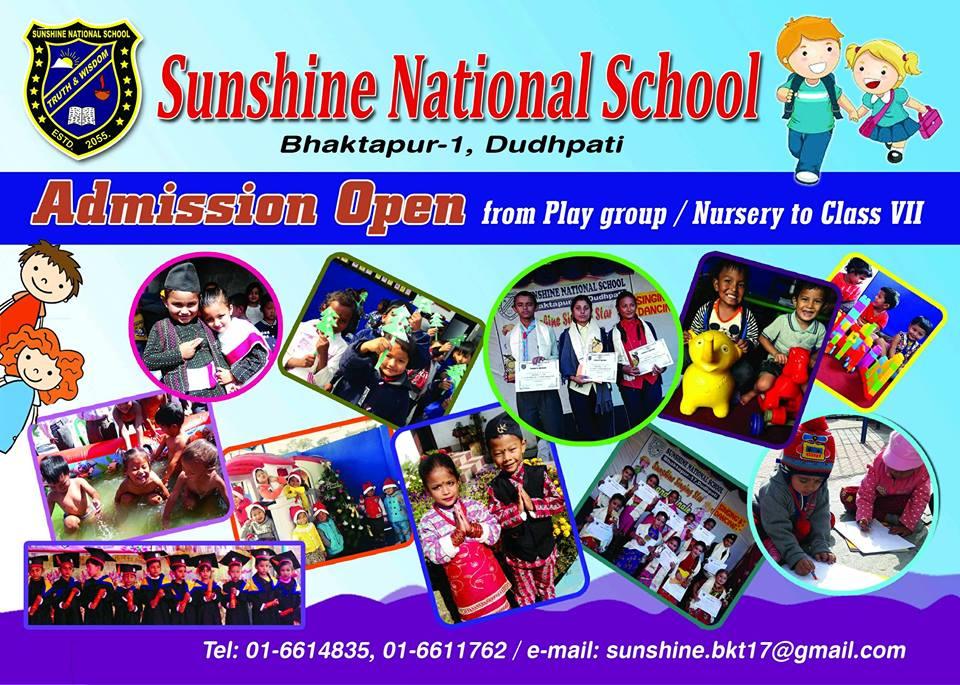 Admission Open - Sunshine National School